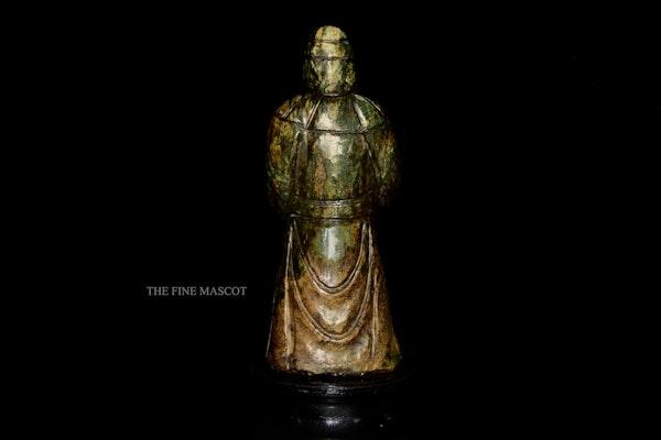 Large antique emperor jade statue - image 3