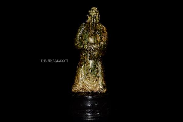 Large antique emperor jade statue - image 6