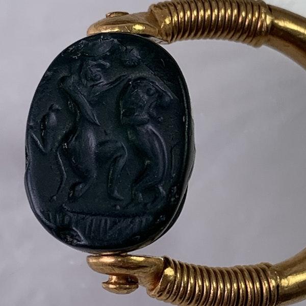 Ancient Carthaginian scarab ring - image 2