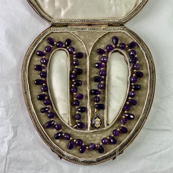 Amethyst necklace in original box 1810 - image 2