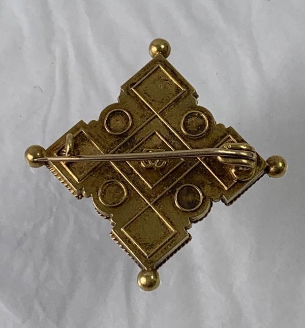 Castellani mosaic brooch - image 2