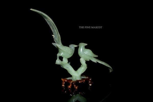 Chinese carves jade birds artwork - image 5