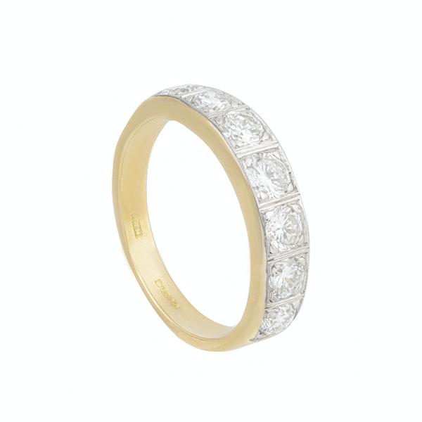A Seven Stone Diamond Half Hoop Ring - image 2