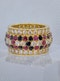 French - Ruby - Diamond - Sapphire -  Cocktail Ring - image 2