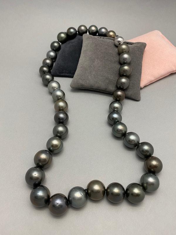 Tahitian Pearl Necklace date circa 1990, SHAPIRO & Co since1979 - image 3