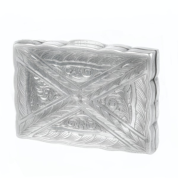 A French Silver Amethyst Pill box - image 2
