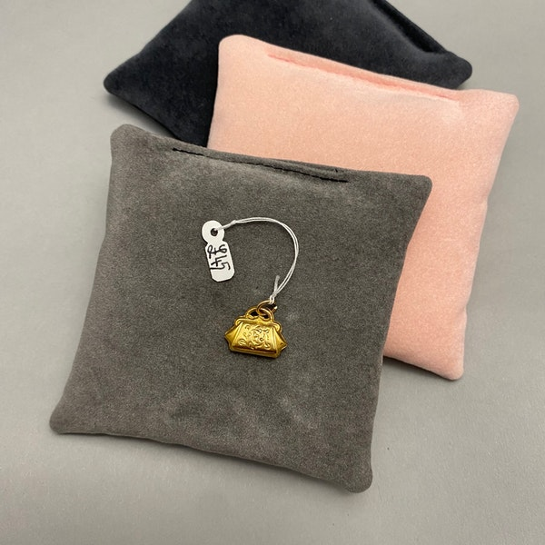 Charm Handbag in 9ct Gold dated Birmingham 1975, Lilly's Attic since 2001 - image 3