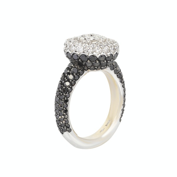 """A """"Black and White"""" Cocktail Ring Offered by The Gilded Lily Jewellery - image 2"""