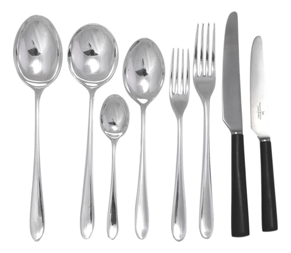 WALKER & HALL Cutlery - PRIDE Pattern - 47 Piece Canteen for 6 - Black - image 3