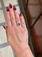Sapphire Diamond Three Stone Ring in 18ct Yellow/White Gold dated London 1997, SHAPIRO & Co since1979 - image 3
