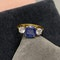 Sapphire Diamond Three Stone Ring in 18ct Yellow/White Gold dated London 1997, SHAPIRO & Co since1979 - image 6