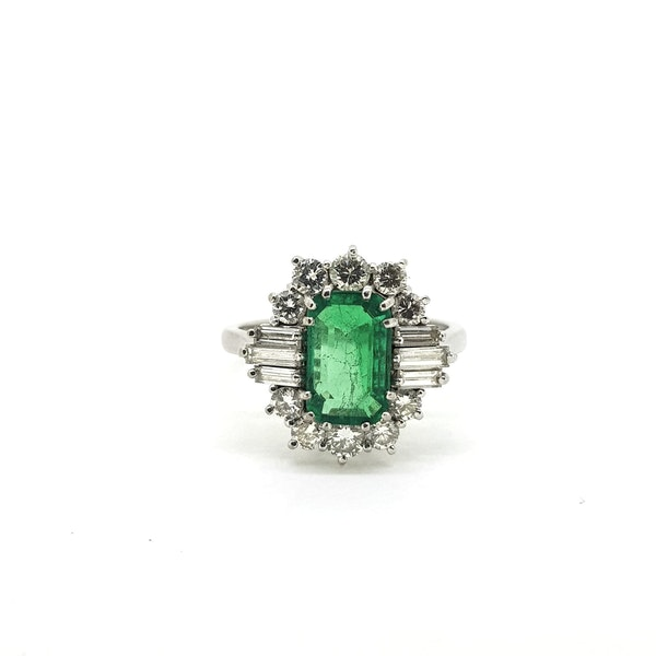 Vintage Columbian Emerald and Diamond Ring with certificate @Finishing Touch - image 2