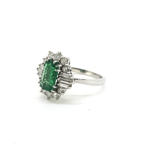 Vintage Columbian Emerald and Diamond Ring with certificate @Finishing Touch - image 3