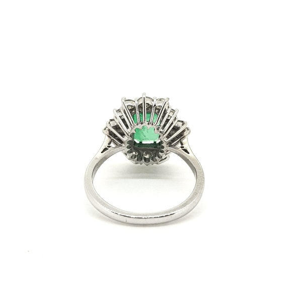 Vintage Columbian Emerald and Diamond Ring with certificate @Finishing Touch - image 4