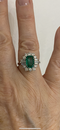 Vintage Columbian Emerald and Diamond Ring with certificate @Finishing Touch - image 5