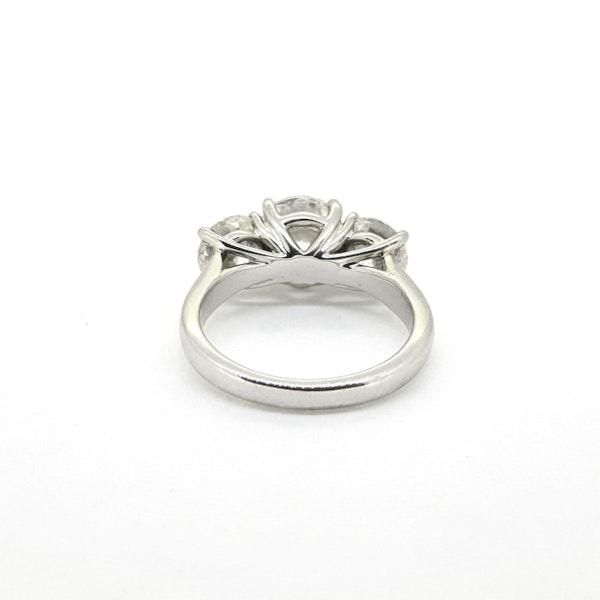 Platinum Diamond 3 stone ring, Estimated to be 4.50 cts @Finishing Touch - image 2