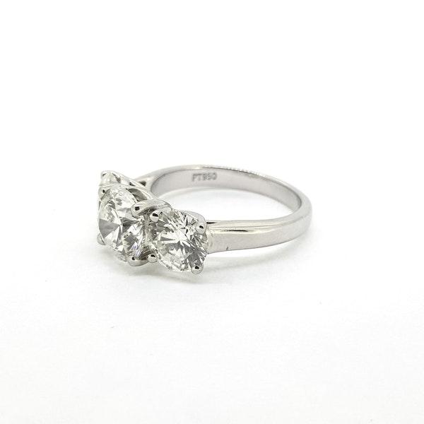 Platinum Diamond 3 stone ring, Estimated to be 4.50 cts @Finishing Touch - image 4