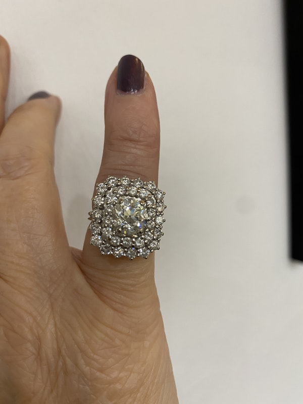 French Old Cut Diamond Dress ring @Finishing Touch - image 4