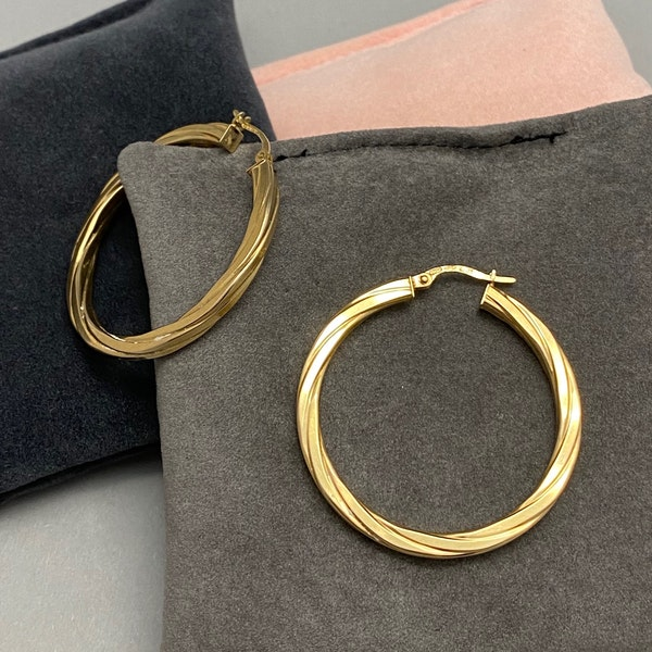 Hoop Earrings in 9ct Gold date circa 1990, Lilly's Attic since 2001 - image 1
