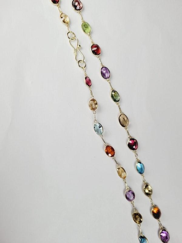 Harlequin colour gem necklace sku 50  DBGEMS - image 2