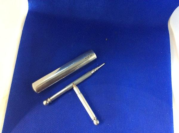 Antique silver combination whistle pen & pencil - image 3