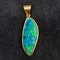 Black Opal Pendant in 18ct Gold date circa 1970, Lilly's Attic since 2001 - image 2
