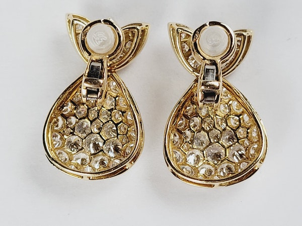 Super French diamond drop earrings sku 5089 DBGEMS - image 2