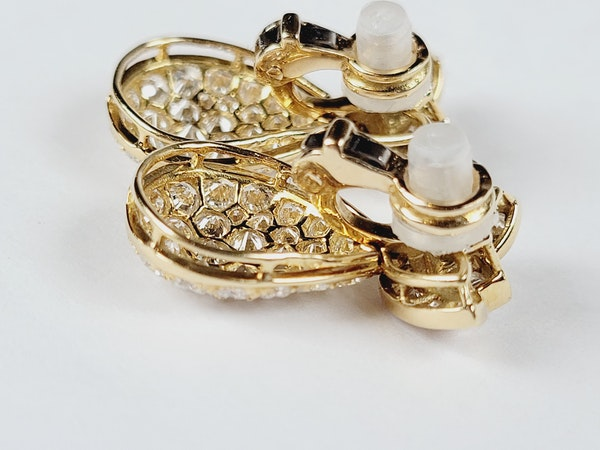 Super French diamond drop earrings sku 5089 DBGEMS - image 3