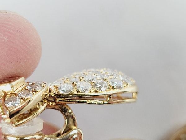 Super French diamond drop earrings sku 5089 DBGEMS - image 4