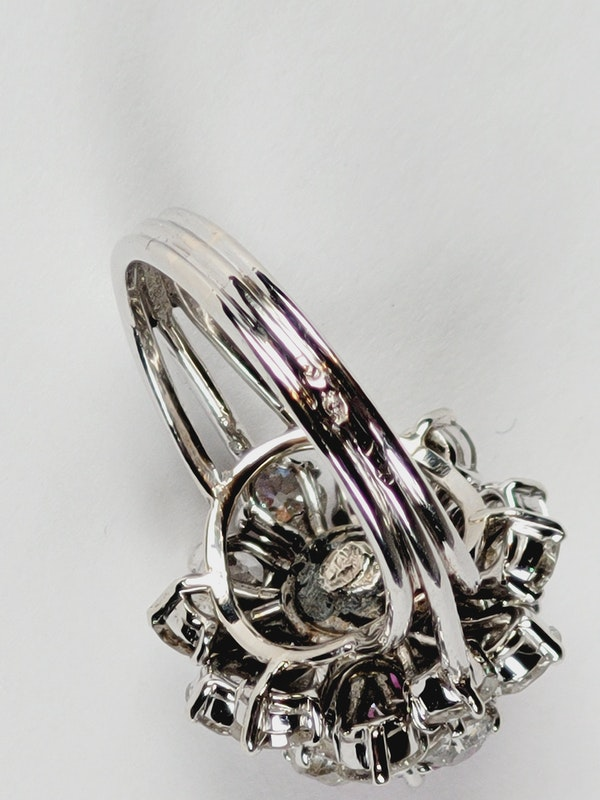 Fantastic French pink sapphire and old cut diamond dress ring Sku 5088  DBGEMS - image 4