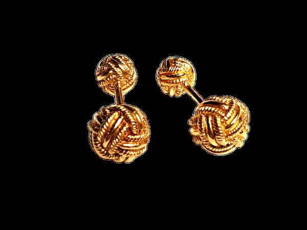 Tiffany Schlumberger 18ct gold solid knot cufflinks  DBGEMS - image 1