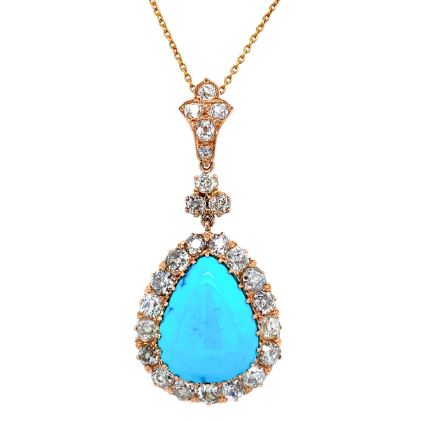 Turquoise and diamond pendant New Product - image 1