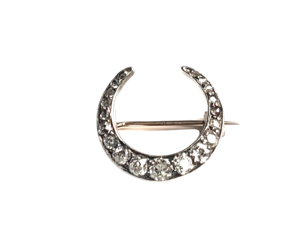 Antique diamond crescent - image 1
