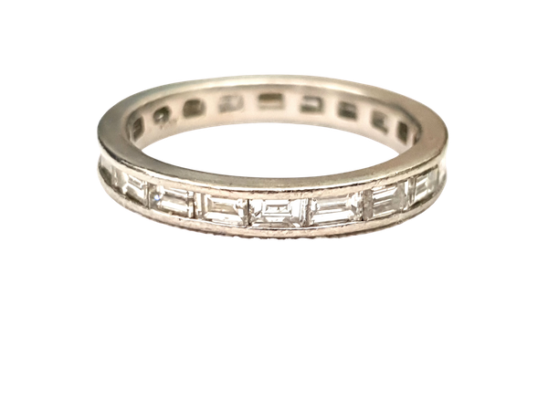 Landscape diamond baguette eternity ring in platinum  DBGEMS - image 1
