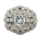 Bombe style ring with a central diamond of 1.40 carat surrounded by pave set smal diamonds - image 1