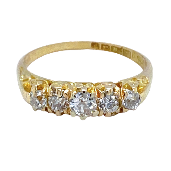 Five Stone Diamond Ring - image 1