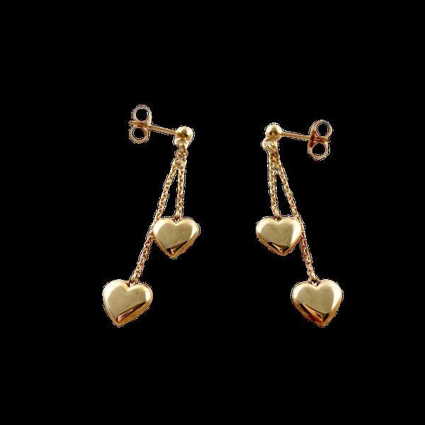 1990's Tiffany & Co 18ct Yellow Gold Earrings,      SHAPIRO & Co - image 1