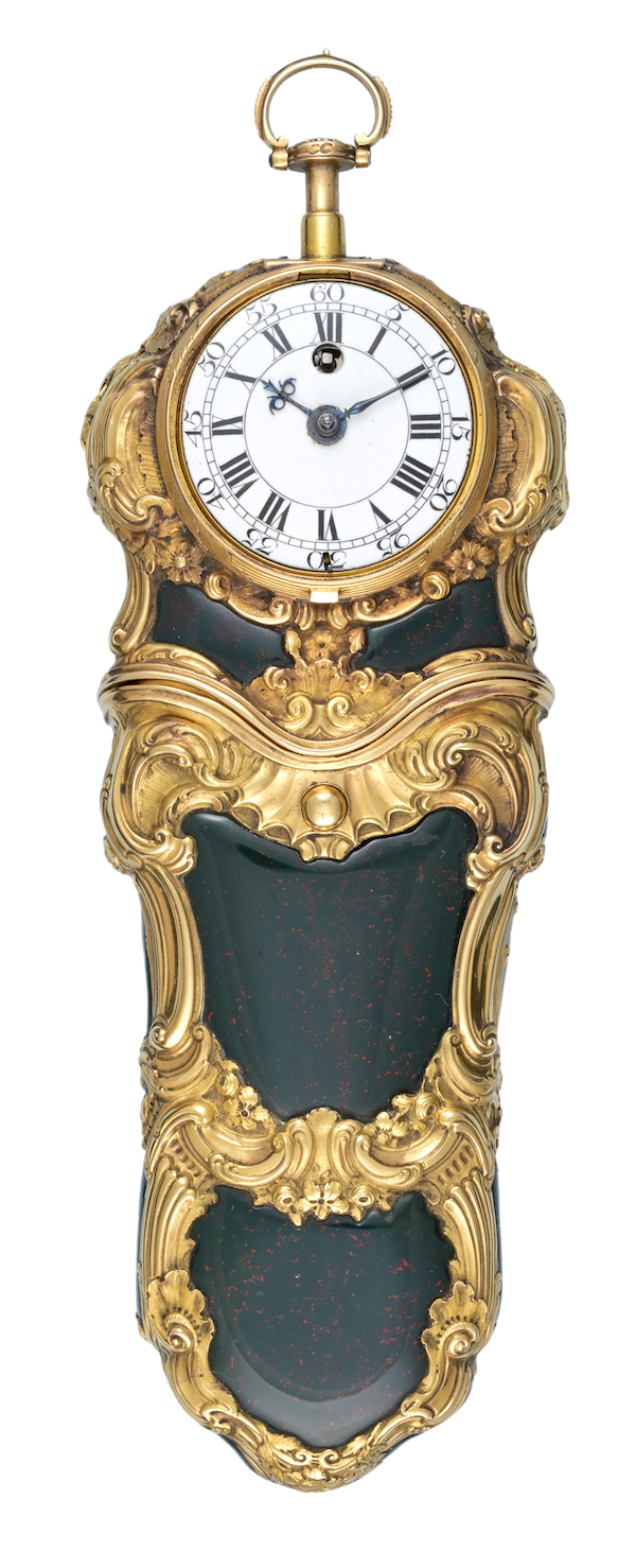 REPEATING GOLD AND BLOODSTONE ETUI - image 1