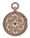 RARE PEARL AND RUBY ENCRUSTED GOLD WATCH - image 1