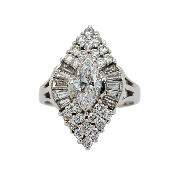 Diamond Cocktail Ring - image 1