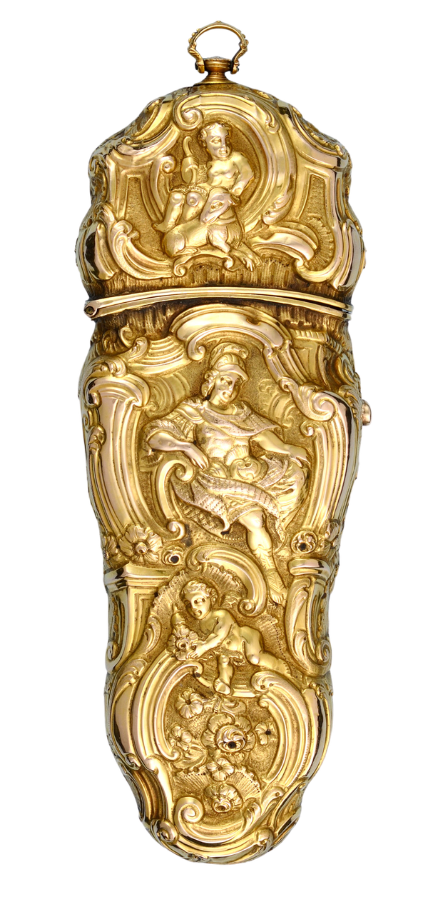 VERY FINE GOLD REPOUSSE SEWING ETUI - image 1