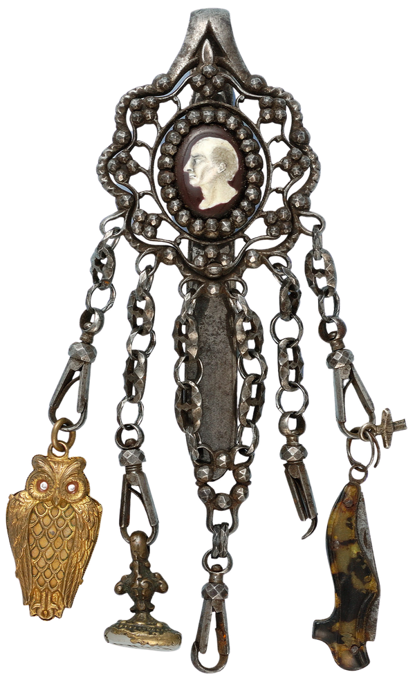 CUT STEEL CHATELAINE AND ACCESSORIES - image 1