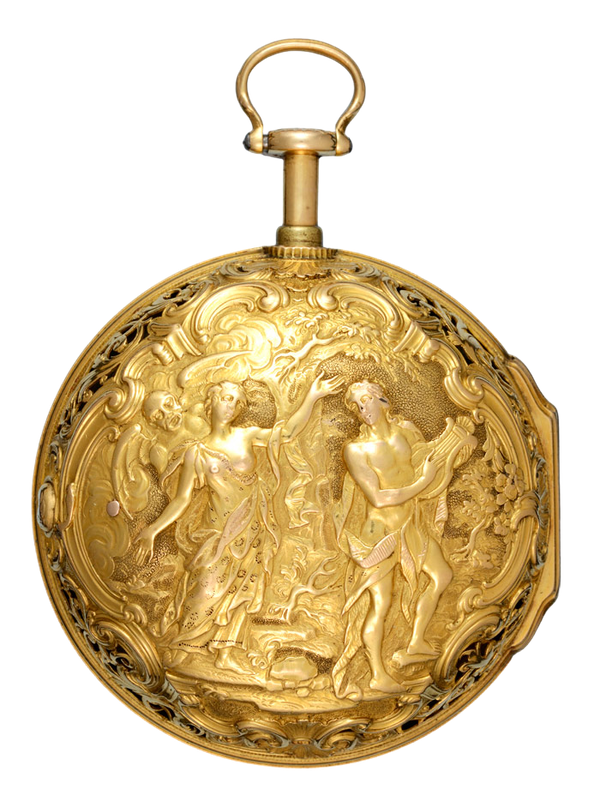 REPEATING VERGE IN GOLD REPOUSSE CASE BY MOSER - image 1