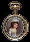 SWISS GILT PAIR CASED VERGE WITH ENAMEL PORTRAIT - image 1