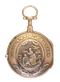 GOLD QUARTER REPEATING SWISS VERGE POCKET WATCH - image 1