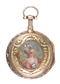 GOLD AND ENAMEL QUARTER REPEATING POCKET WATCH - image 1