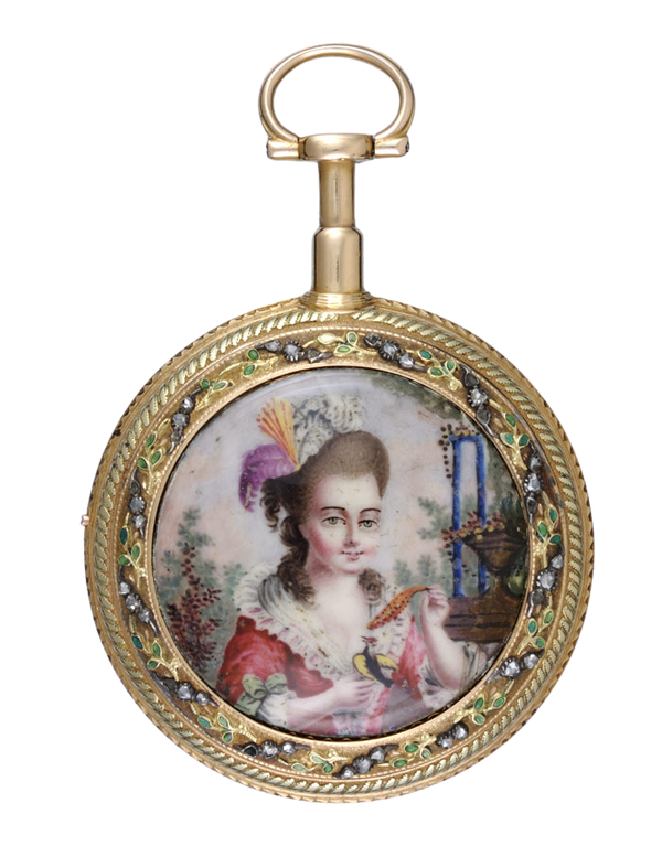 GOLD AND ENAMEL REPEATING FRENCH CYLINDER POCKET WATCH - image 1