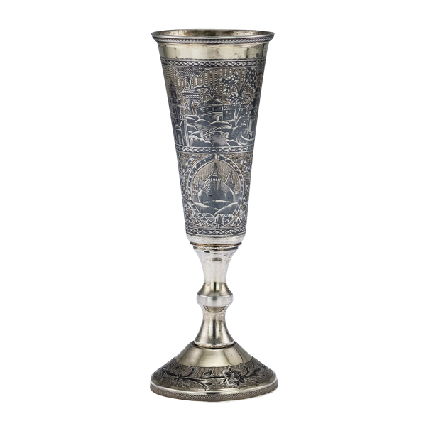 Russian Silver Gilt Niello Flute c. 1820, Moscow - image 1