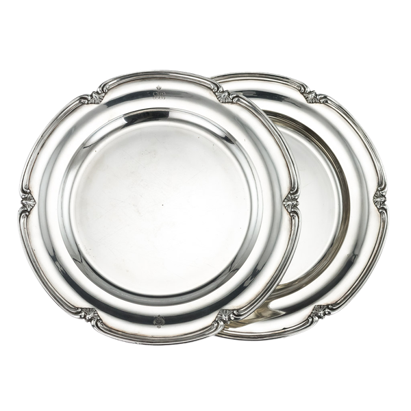 Pair of Silver Plates by Nicholas and Plinke 1843 for Grand Duke Alexander Nikolaevich, later Tsar Alexander The Second - image 1