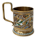 Russian Silver-Gilt and Cloisonné Enamel Tea Glass Holder, c.1900 - image 1